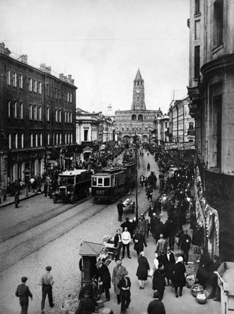 View of the Sukharev Tower in Sretenka street, 1927
