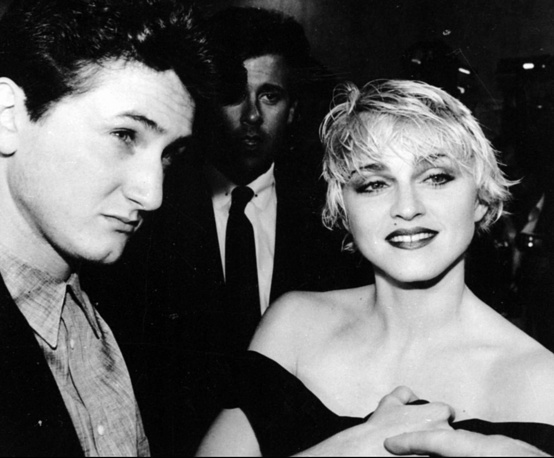 Madonna and her first husband, Sean Penn, 1986