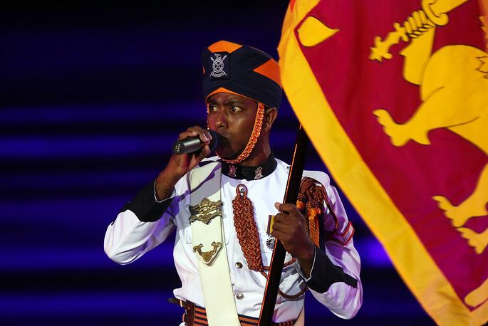 A member of the Sri Lankan Military Band