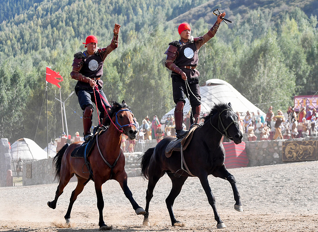 Horsemen compete in the 2018 World Nomad Games