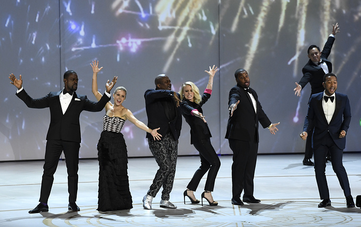 Sterling K. Brown, Kristen Bell, Tituss Burgess, Kate McKinnon, Kenan Thompson and John Legend