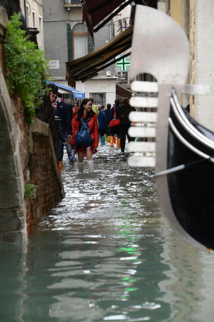 70 percent of the historic center in Venice is flooded