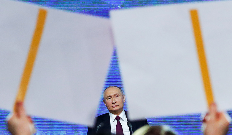 The longest one took place in 2008, when Putin fielded questions for four hours and 40 minutes