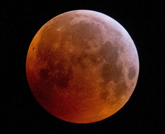 A super moon is seen during a lunar eclipse in Frankfurt