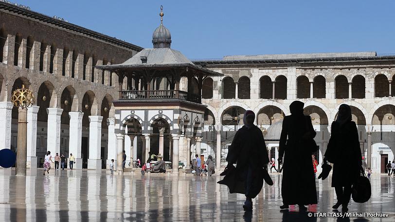 September 16. Umayyad Mosque courtyard.