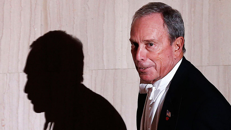 New York's then-mayor Michael Bloomberg