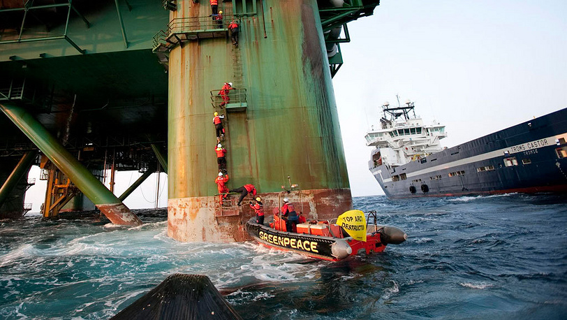 Leiv Eiriksson oil rig, Greenland, 2011