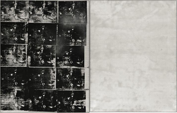 «Авария серебряной машины (Двойная катастрофа)» (Silver Car Crash (Double Disaster, 1963) продана на Sotheby's на торгах в Нью-Йорке за 105,45 миллиона долларов.