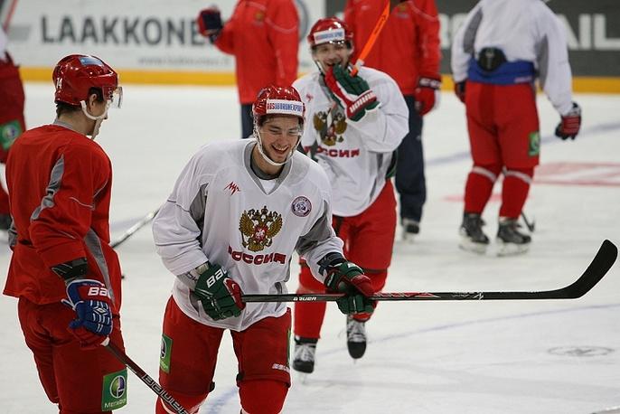 Несмотря на поражение от сборной Финляндии в российской команде сохраняется хорошее настроение ИТАР-ТАСС/Нина Бурмистрова