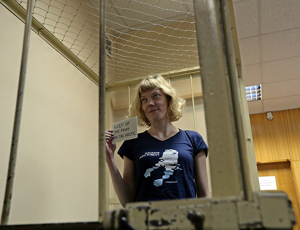 Активистка Greenpeace гражданка Финляндии Сини Саарела.