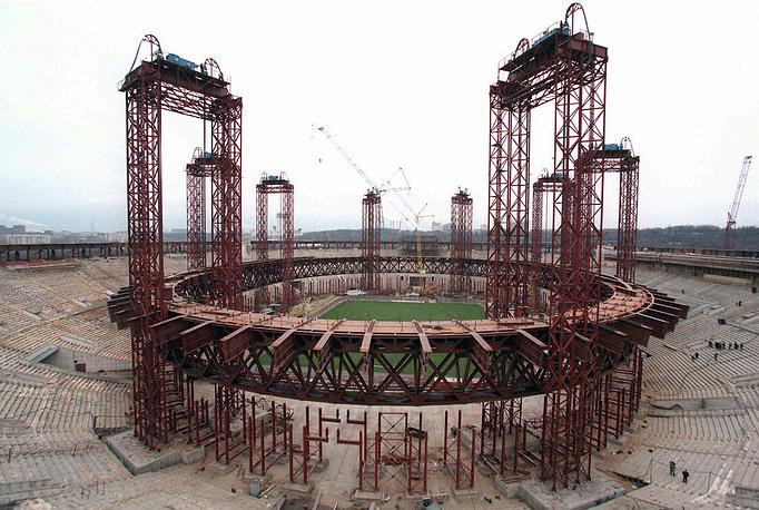 Реконструкция крыши стадиона Лужники, 1996