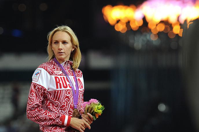 Светлана Школина завоевала бронзовую медаль на соревнованиях по прыжкам в высоту на Олимпиаде в Лондоне. 2012 год