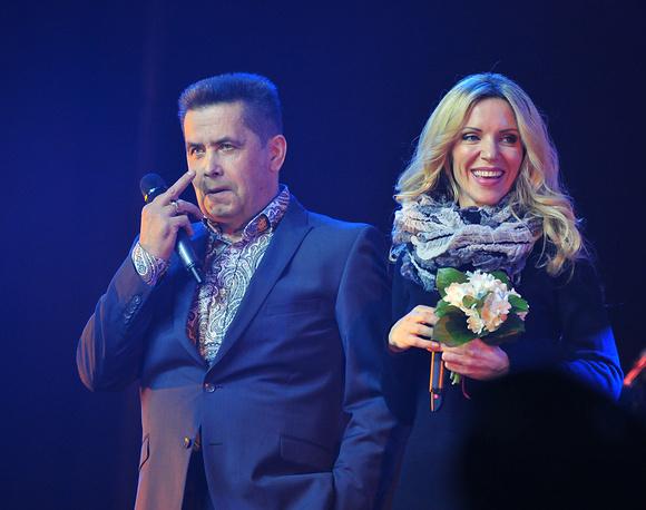 Солист группы Любэ Николай Расторгуев и певица Людмила Соколова