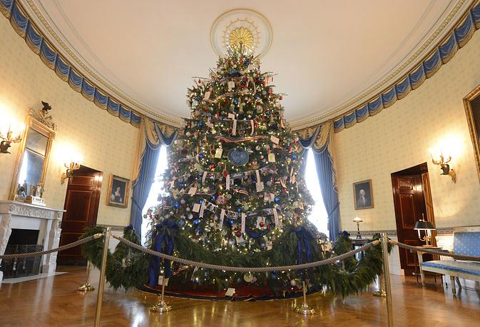 Рождественская ель в Белом доме в США