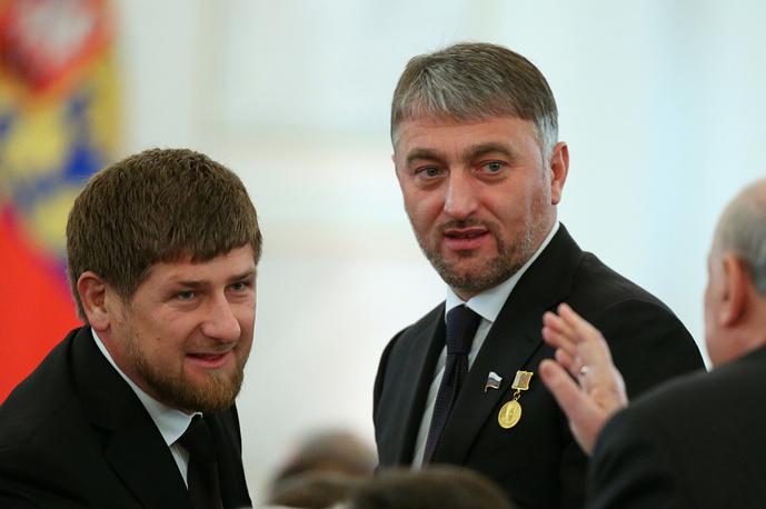 Глава Чеченской Республики Рамзан Кадыров и депутат Государственной Думы РФ Адам Делимханов