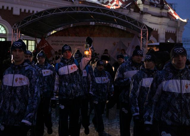 Екатеринбург встречает Олимпийский огонь