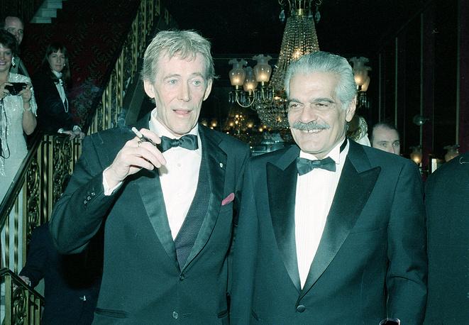 Питер О'Тул и Омар Шериф, 1989