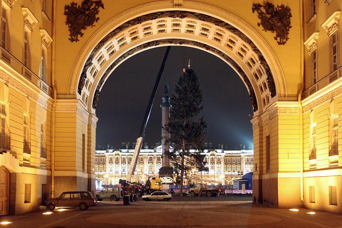 Новогодняя ель на Дворцовой площади, 2007 год.