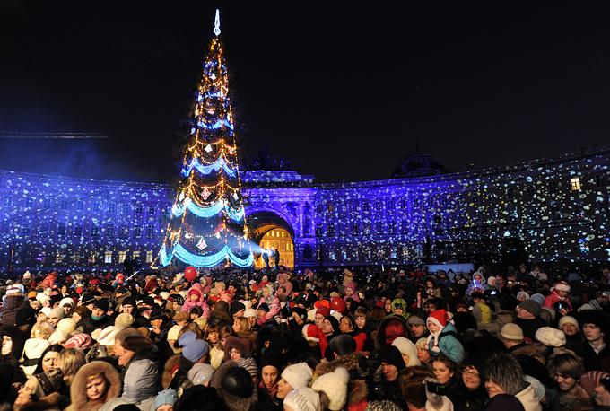 Новогодняя ель на Дворцовой площади, 2010 год.