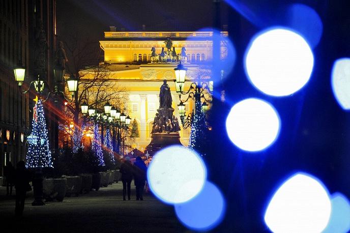 Новогодние елки у Александрийского театра, 2012 год.
