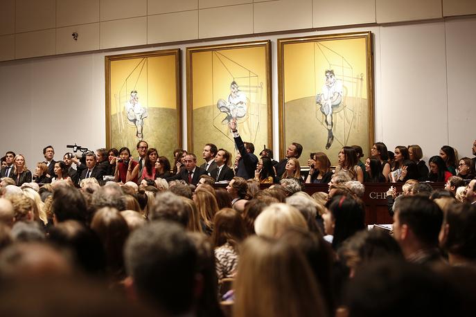 "Триптих Фрэнсиса Бэкона ""Три наброска к портрету Люсьена Фрейда"" продан на торгах Christie's за $142,4 млн"