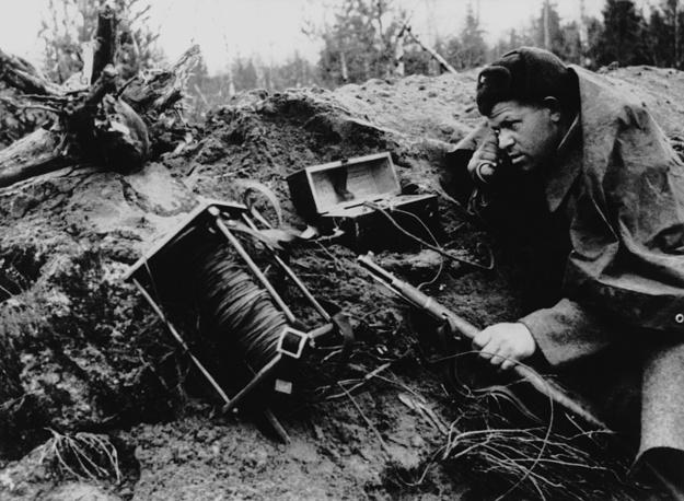 На линии связи, 1943 г.