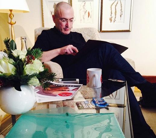 """Михаил Ходорковский в отеле """"Адлон"""" в Берлине"""