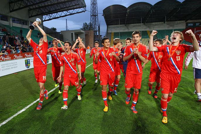 Победа юношеской сборной России по футболу на чемпионате Европы в Словакии