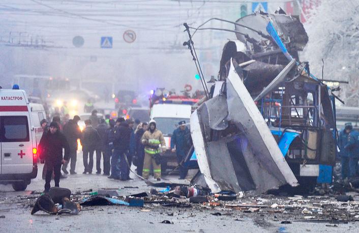 30 декабря в Дзержинском районе Волгограда произошел взрыв в троллейбусе