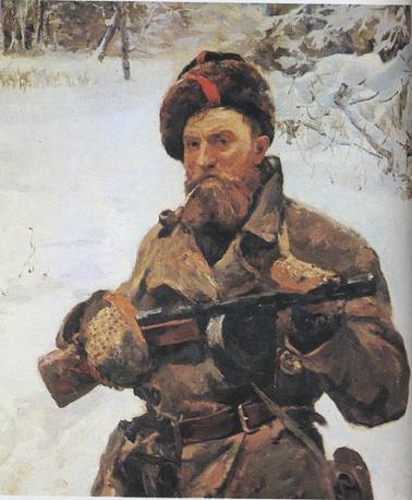 Портрет партизана В. Тимачева