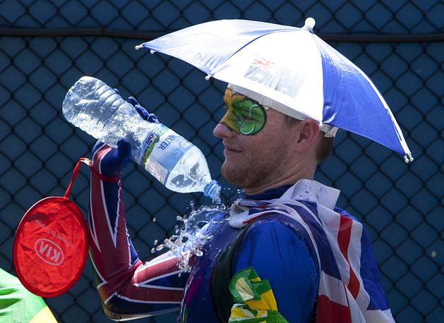 Зритель на матче второго круга Australian Open