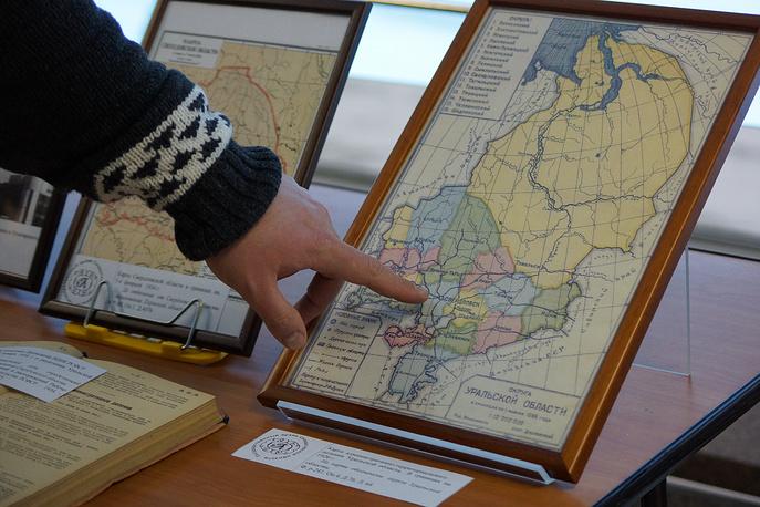 Карта Уральской области