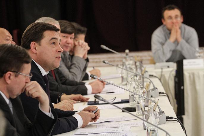 Губернатор Свердловской области Евгений Куйвашев на заседании Совета по культуре в Екатеринбурге