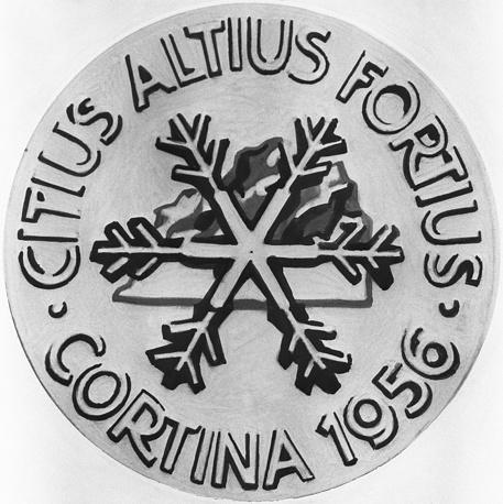 Золотая медаль VII зимних Олимпийских игр, 1956 г.(оборотная сторона)