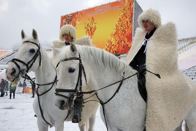 Этап эстафеты олимпийского огня во Владикавказе, 30 января 2014 г.