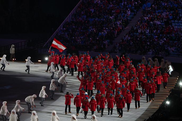 Олимпийская делегация сборной Австрии