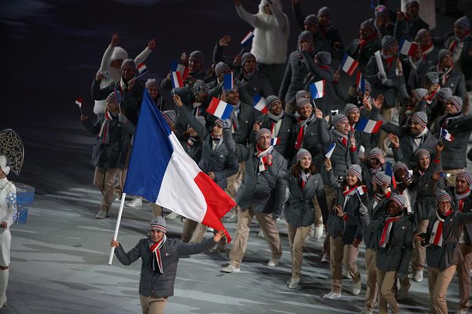 Олимпийская делегация сборной Франции