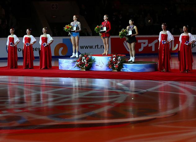 Церемония награждения Московского этапа Гран-при по фигурному катанию. 2013 год