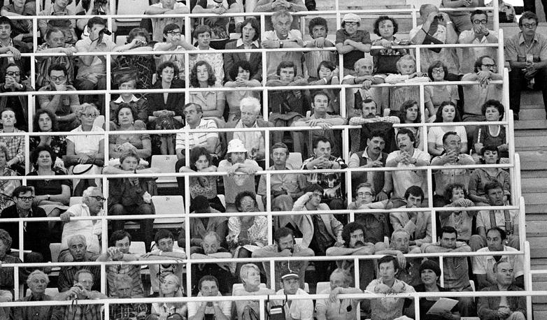 Советские болельщики на летних олимпийских играх в Москве, 1980 г.