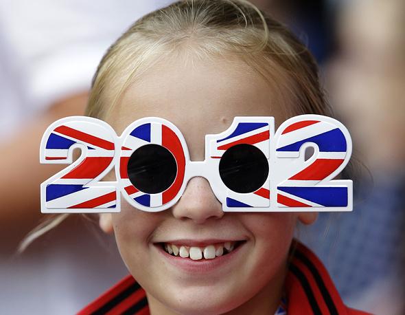 Болельщица на летних олимпийских играх в  Лондоне, 2012 г.
