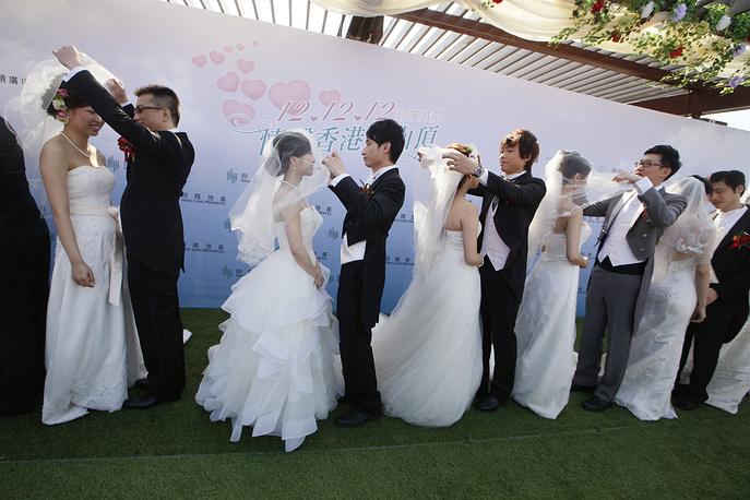 Массовая свадебная церемония в Гонконге, 2012 год