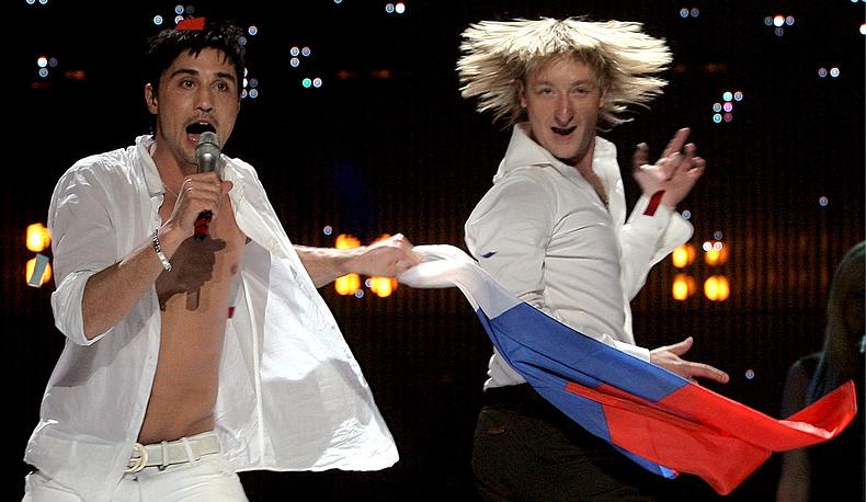 В 2008 году Евгений Плющенко вместе с Димой Биланом представлял Россию на конкурсе песни «Евровидение». Номер Believe занял в итоге 1-ое место.