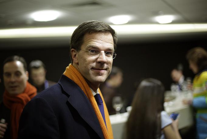 Премьер-министр Нидерландов Марк Рютте перед церемонией открытия