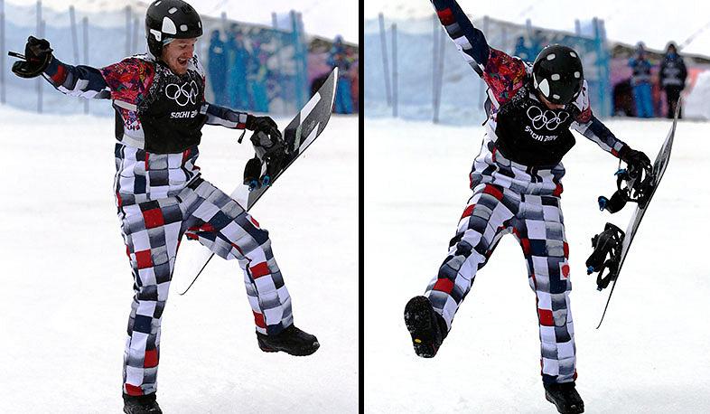 Россиянин Николай Олюнин танцует после полуфинальных соревнований