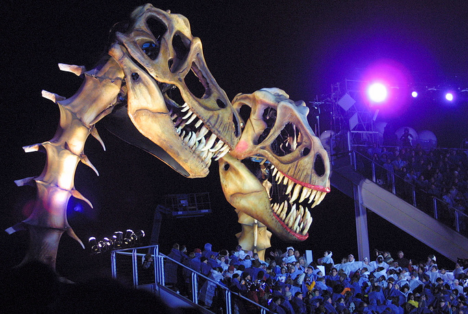 Церемония закрытия в Солт-Лейк Сити, США, 2002 год. XIX зимние Олимпийские игры  проходили с 8 по 24 февраля