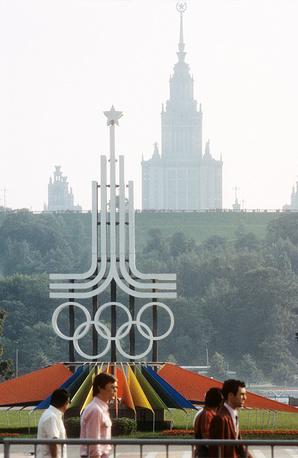 Олимпийская символика в Москве