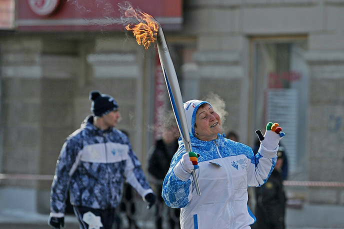 На церемонии зажжения паралимпийского огня в Екатеринбурге