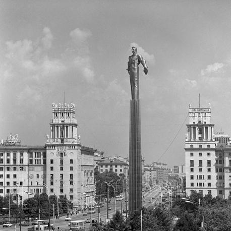 Москва. Памятник первому космонавту, 1980 год