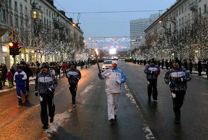 Этап эстафеты Паралимпийского огня в Мурманске