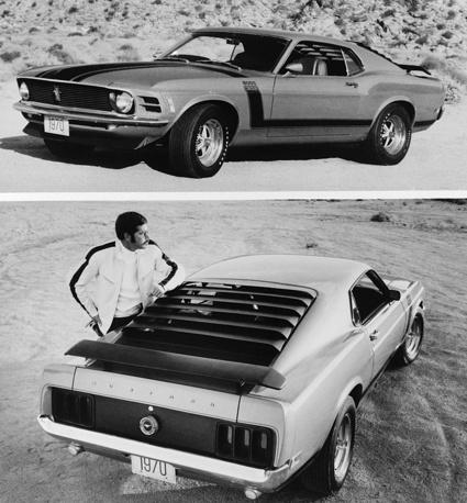 В 1970 модельном году Ford занял выжидательную позицию, оставив модель Mustang практически нетронутой. На фото: 1970 Mustang Boss 302